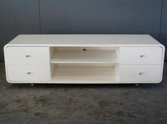 Wonderful Preferred TV Stands With Rounded Corners With Tv Cabinet With Rounded Edges In Gloss White Artappelartappel (View 9 of 50)