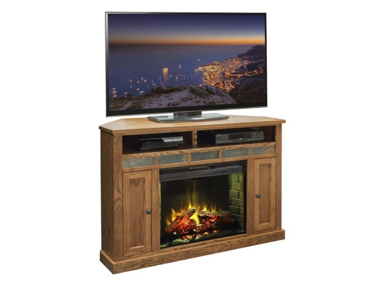 Wonderful Preferred Unique Corner TV Stands In Furniture Oak Electric Fireplace Tv Stand With Fireplace And (Image 47 of 50)