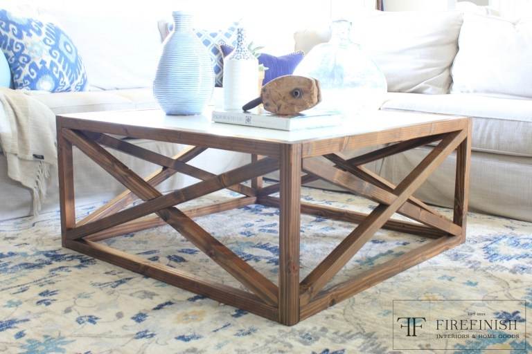 Wonderful Preferred White Square Coffee Table Throughout Ana White Square X Coffee Table Firefinish Diy Projects (Image 47 of 50)