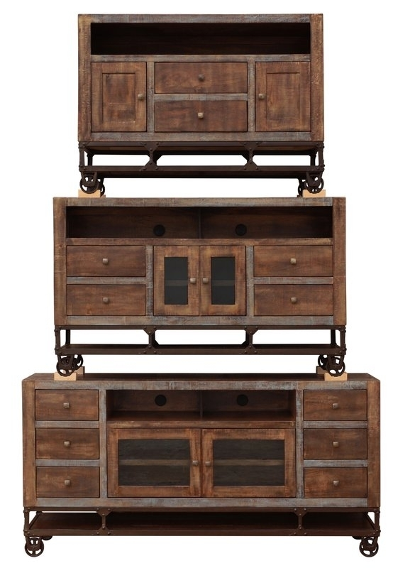Wonderful Premium Gold TV Stands For Urban Gold Tv Stand Consoles Southern Creek Rustic Furnishings (View 15 of 50)