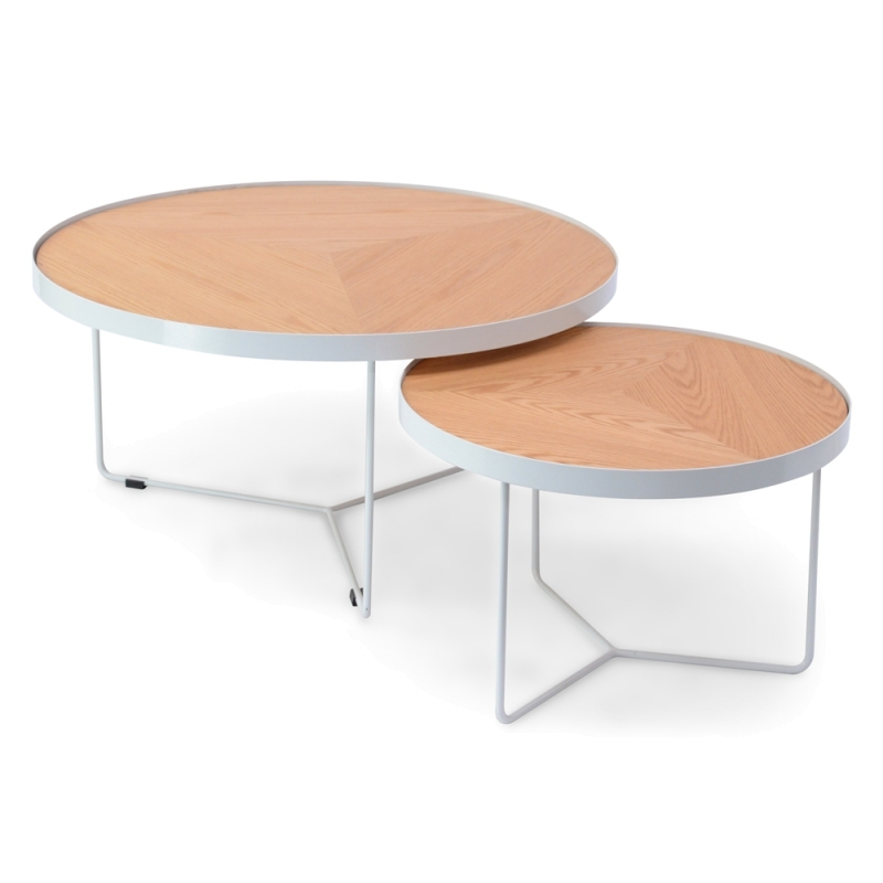 Wonderful Premium Luna Coffee Tables Pertaining To Luna Round Coffee Table Medium White Interior Secrets (Image 40 of 40)