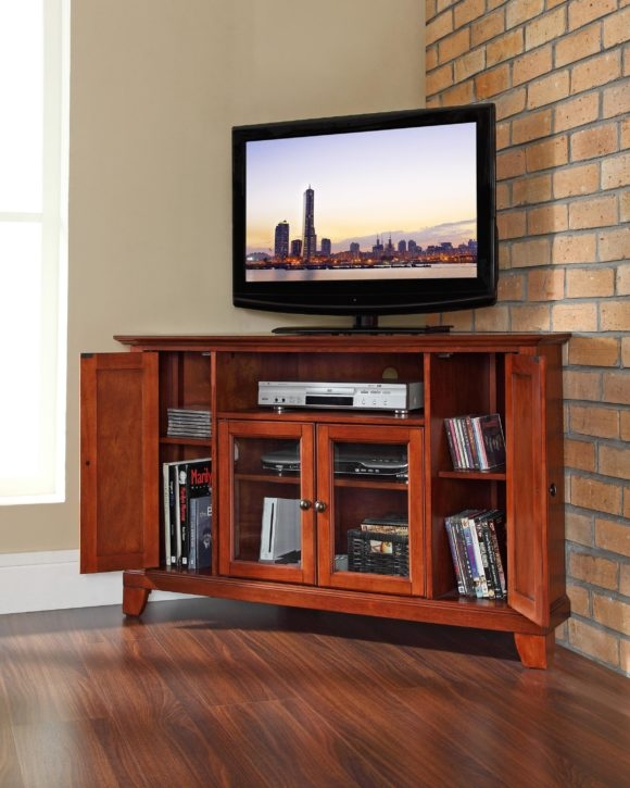 Wonderful Premium Modern TV Cabinets For Flat Screens In Furniture Oak Media Cabinet With Open Shelf And Storage With  (Image 45 of 50)