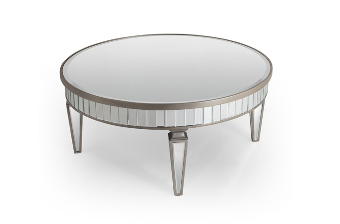 Wonderful Premium Oval Mirrored Coffee Tables Regarding Mirrored Coffee Table Round Starrkingschool (Image 49 of 50)