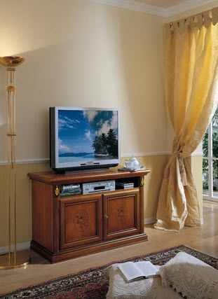 Wonderful Premium Traditional TV Cabinets For Traditional Tv Cabinet Wooden Milano Maronese (Image 49 of 50)