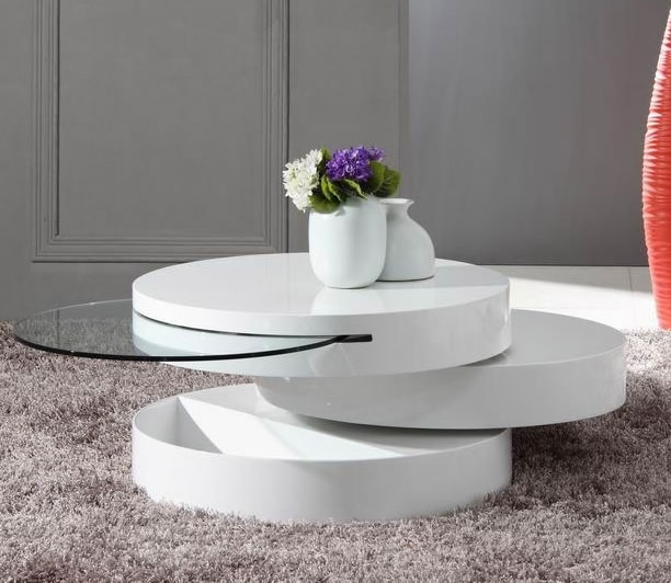 Wonderful Premium White Circle Coffee Tables For White Round Coffee Table (Image 47 of 50)