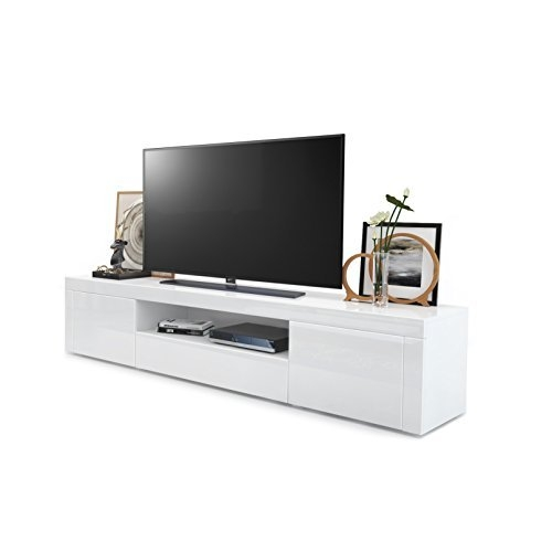 Wonderful Premium White Gloss TV Cabinets Pertaining To White High Gloss Tv Unit Amazoncouk (Image 49 of 50)