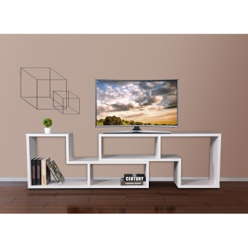 Wonderful Premium White Wood TV Cabinets For Pco Tvs01 Wh China Simple Flexible Tv Stand Wood Tv Cabinet With (Image 50 of 50)