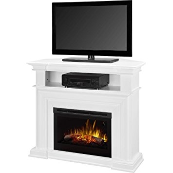 Wonderful Premium White Wooden TV Stands Inside Fireplace Tv Stand White Fireplace Ideas (Image 49 of 50)