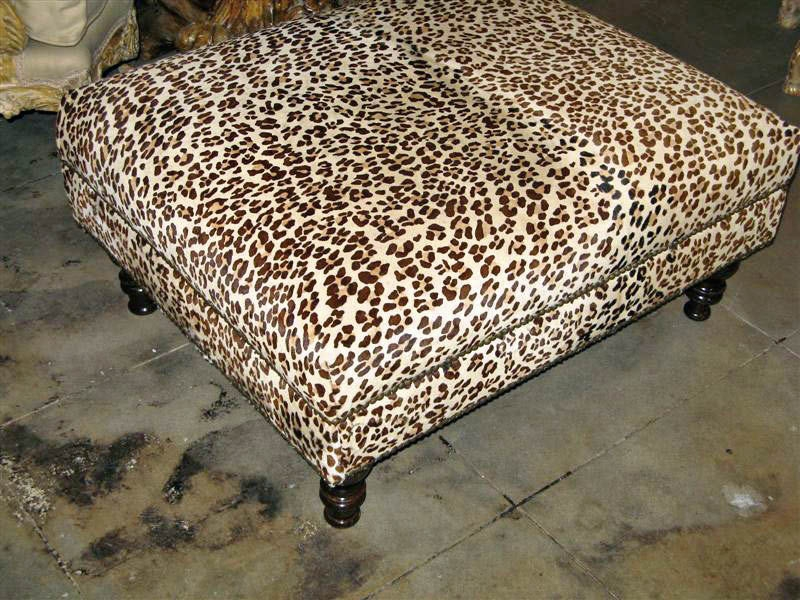 Wonderful Series Of Animal Print Ottoman Coffee Tables Regarding Fresh Wonderful Leopard Print Ottomans Storage  (Image 49 of 50)
