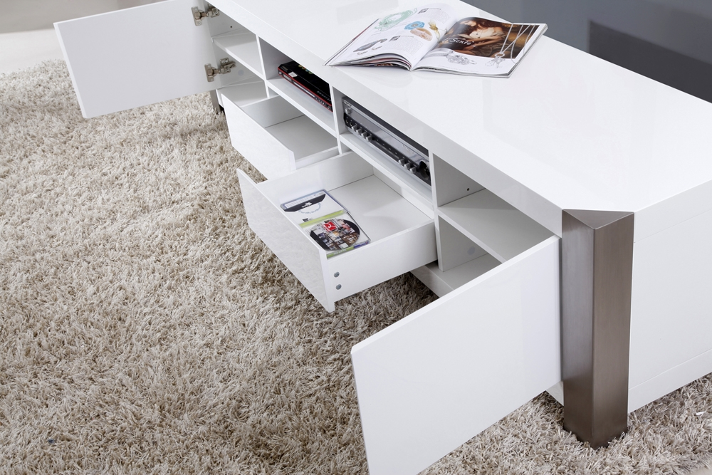 Wonderful Series Of BModern TV Stands Within B Modern Composer Tv Stand White High Gloss B Modern Modern (Image 50 of 50)