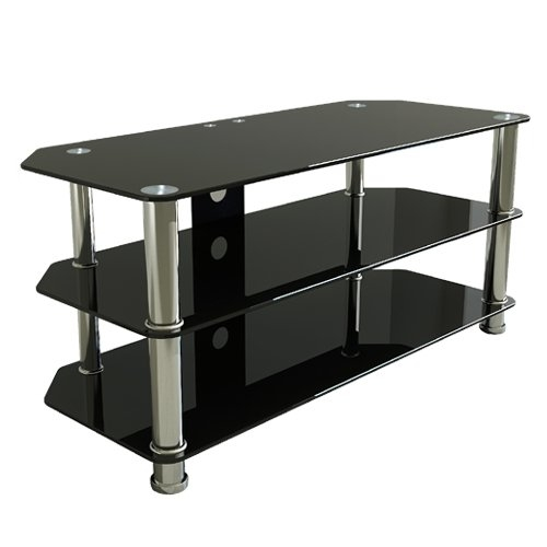 Wonderful Series Of Black Glass TV Stands Regarding Av Sales Europe Tv Stands Premier Plasma And Lcd Glass Tv Stand (View 5 of 50)
