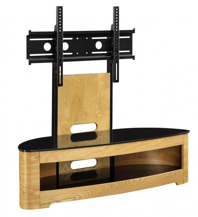 Wonderful Series Of Cantilever TV Stands Regarding Jual Curve Jf209 Oak Cantilever Tv Stand (Image 47 of 50)