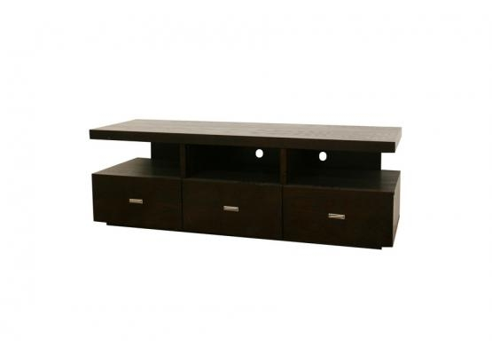 Wonderful Series Of Dark Wood TV Cabinets Throughout Studio Nardo Dark Brown Wood Modern Tv Stand (View 27 of 50)