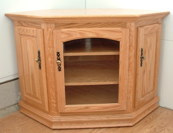 Wonderful Series Of Light Oak Corner TV Stands Pertaining To 32 Corner Or Flatwall Tv Stand Clear Creek Furniture (View 3 of 50)