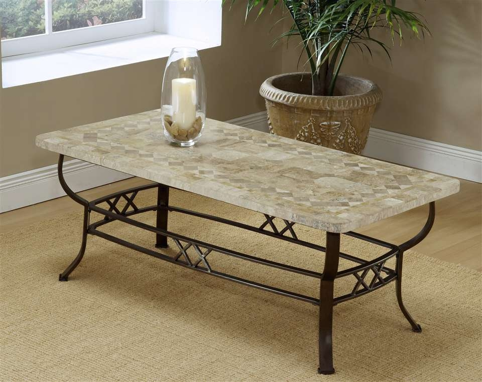 Wonderful Series Of Marble And Metal Coffee Tables Inside Wrought Iron Coffee Table Porch Living Room (Image 37 of 40)