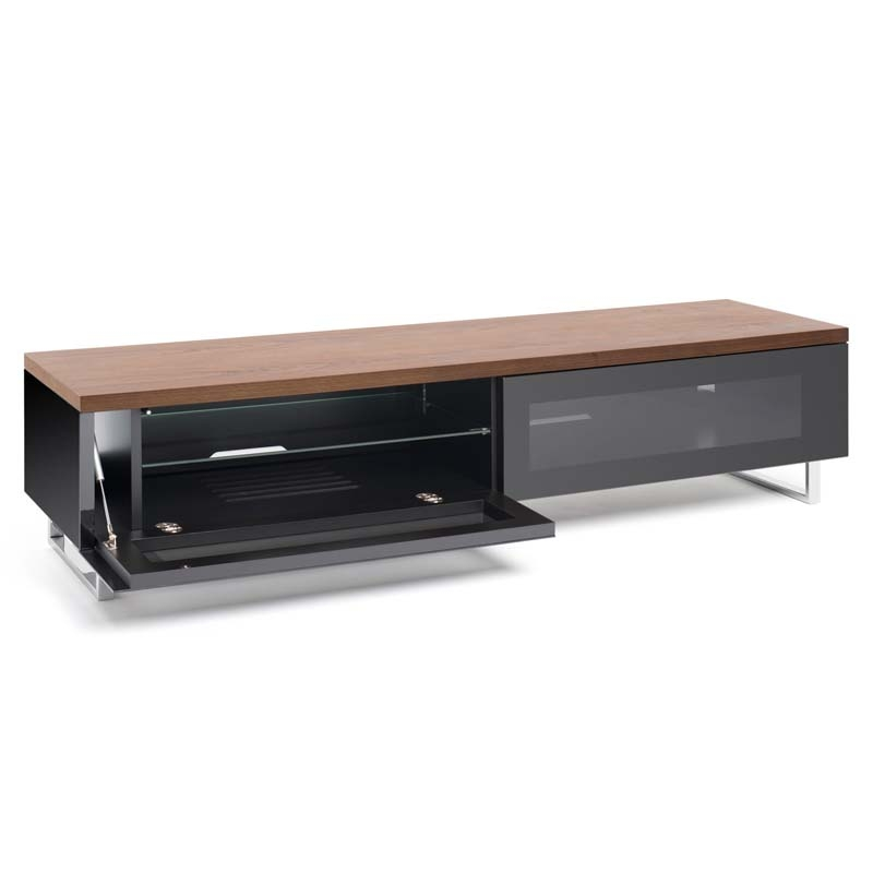 Wonderful Series Of Modern Low Profile TV Stands Within Techlink Panorama Series Low 65 Tv Stand With Drop Down Door And (View 14 of 50)