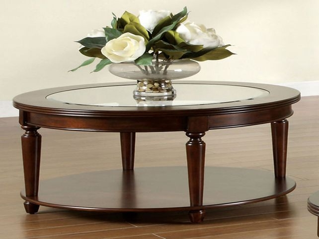 Wonderful Series Of Oval Glass And Wood Coffee Tables In Round Glass And Wood Coffee Table Starrkingschool (Image 49 of 50)