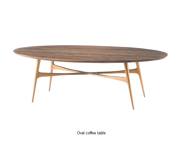Wonderful Series Of Oval Walnut Coffee Tables Throughout Oval Walnut Coffee Table Idi Design (Image 48 of 50)