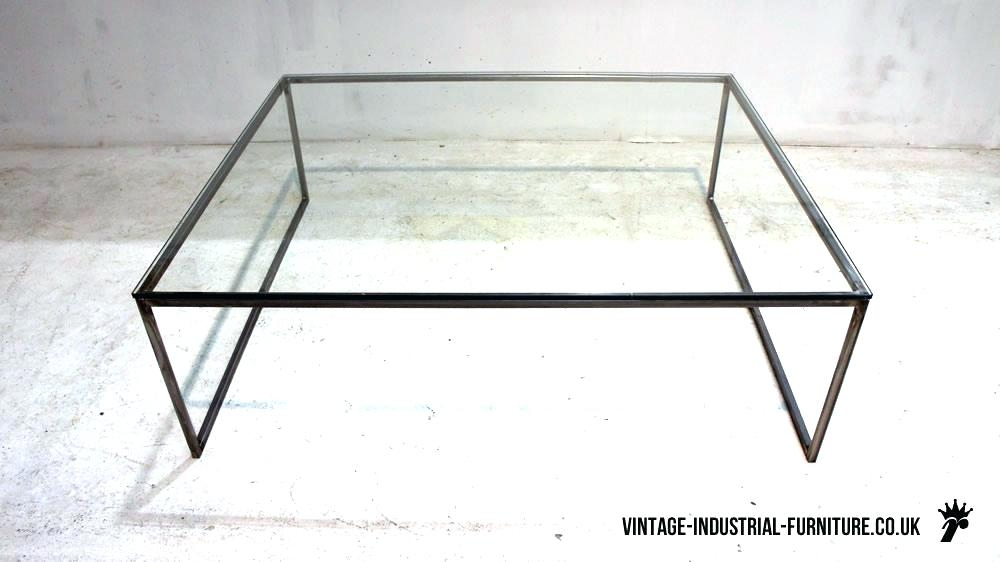 Wonderful Series Of Retro Glass Top Coffee Tables Regarding Iron Glass Coffee Table Theltco (Image 38 of 40)