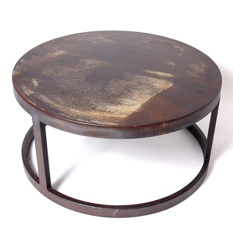 Wonderful Series Of Round Steel Coffee Tables Regarding Elegant Round Metal Coffee Table (Image 49 of 50)