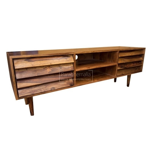 Wonderful Series Of Sheesham Wood TV Stands Pertaining To Jali Modern Sheesham Wood Tv Stand Jali Tv Stand With A Modern (View 32 of 50)