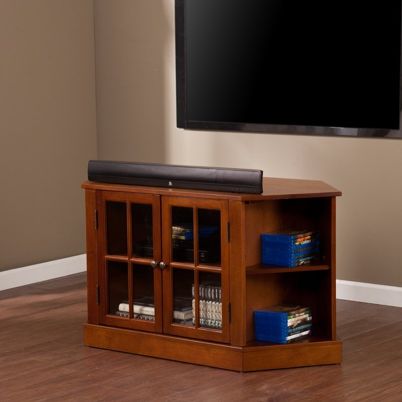 Wonderful Series Of Small Corner TV Stands Within Corner Tv Stands Youll Love Wayfair (View 8 of 50)