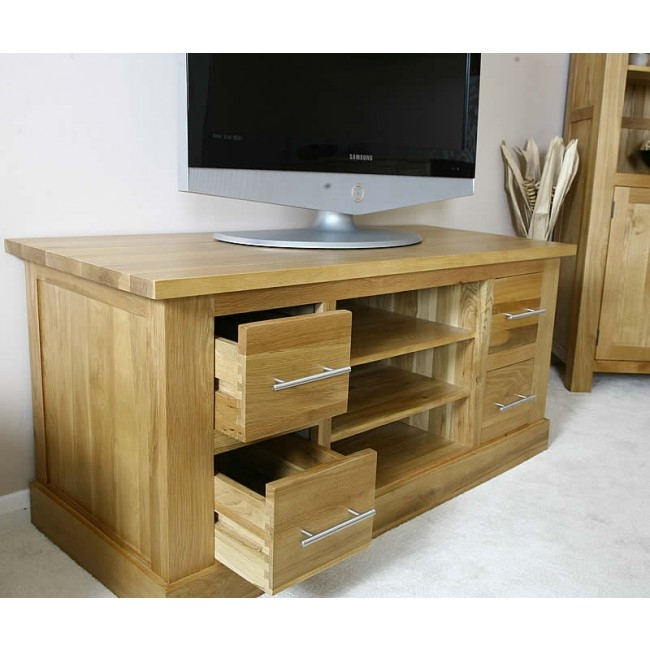 Wonderful Series Of Solid Oak TV Stands Intended For Tv Stands Cabinets Best Price Guarantee (View 11 of 50)