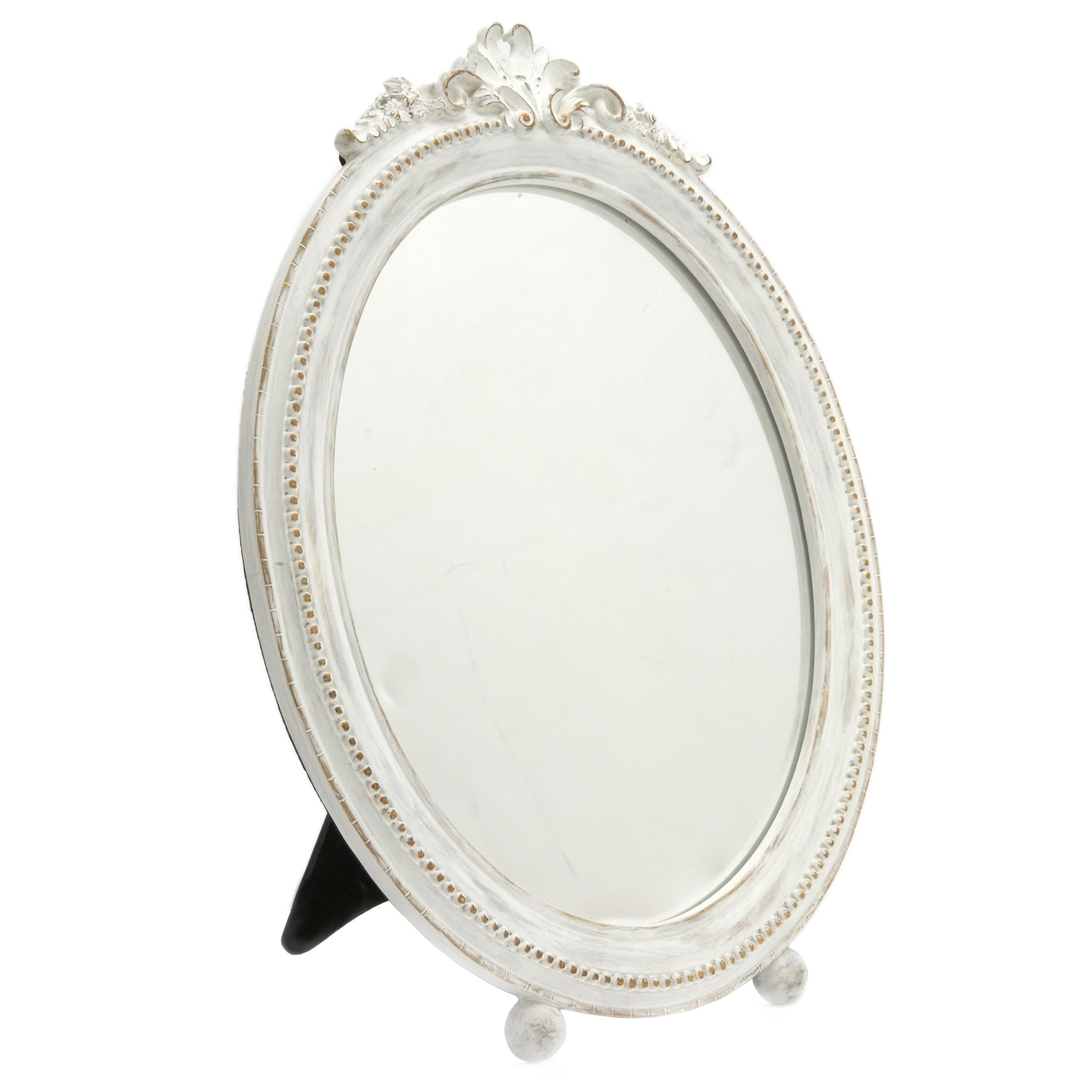 Wonderful Table Mirrors For Wedding And Party Centerpieces Round Throughout Oval Cream Mirror (Image 20 of 20)
