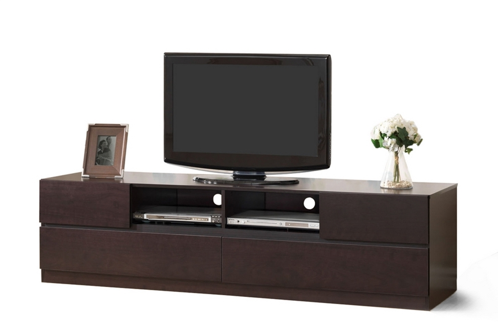 Wonderful Top Contemporary Wood TV Stands Pertaining To Baxton Studio Lovato Modern Tv Stand Dark Brown (Image 48 of 50)
