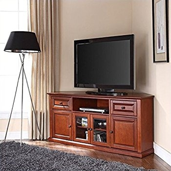 Wonderful Top Corner 60 Inch TV Stands In Amazon Leick Westwood Corner Tv Stand 60 Inch Cherry (Image 48 of 50)