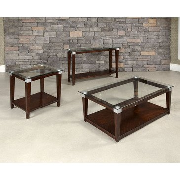 Wonderful Top Dark Brown Coffee Tables Pertaining To Hammary Solitaire 3 Piece Rectangular Coffee Table Set In Dark (View 39 of 50)