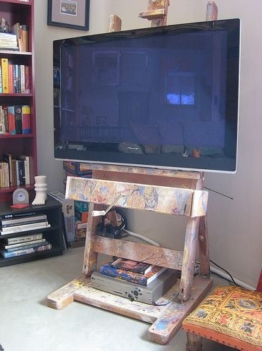 Wonderful Top Easel TV Stands For Flat Screens For 8 Best What To Do With Tv Images On Pinterest Easels Flat (View 20 of 50)