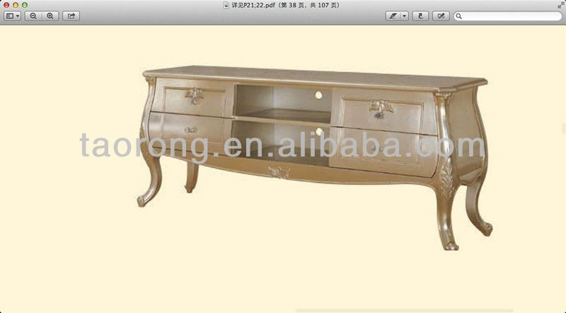 Wonderful Top Gold TV Stands Within Living Room Gold Color Wood Led Tv Stand Tr2044 Buy Living Room (View 4 of 50)