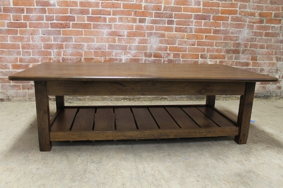 Wonderful Top Oak Coffee Tables With Shelf Throughout Reclaimed Wood Coffee Table With Shelf Lake And Mountain Home (Image 39 of 40)