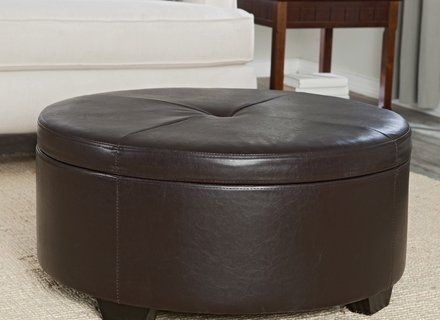Wonderful Top Round Storage Coffee Tables Inside Round Coffee Table Storage Jericho Mafjar Project (View 50 of 50)