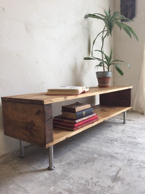 Wonderful Top Rustic Coffee Table And TV Stands Intended For Best 20 Industrial Tv Stand Ideas On Pinterest Industrial Media (Image 49 of 50)