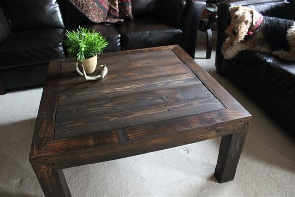 Wonderful Top Rustic Style Coffee Tables With Rustic Pallet Coffee Table Pallet Furniture Diy (View 48 of 50)