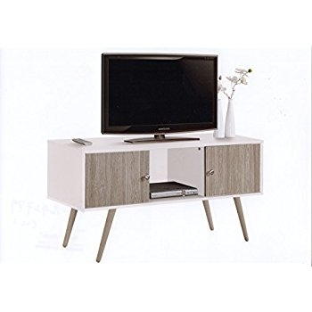 Wonderful Top Vintage TV Stands For Sale Pertaining To Amazon Altra Owen 42 Retro Tv Stand Sonoma Oakgunmetal (View 32 of 50)