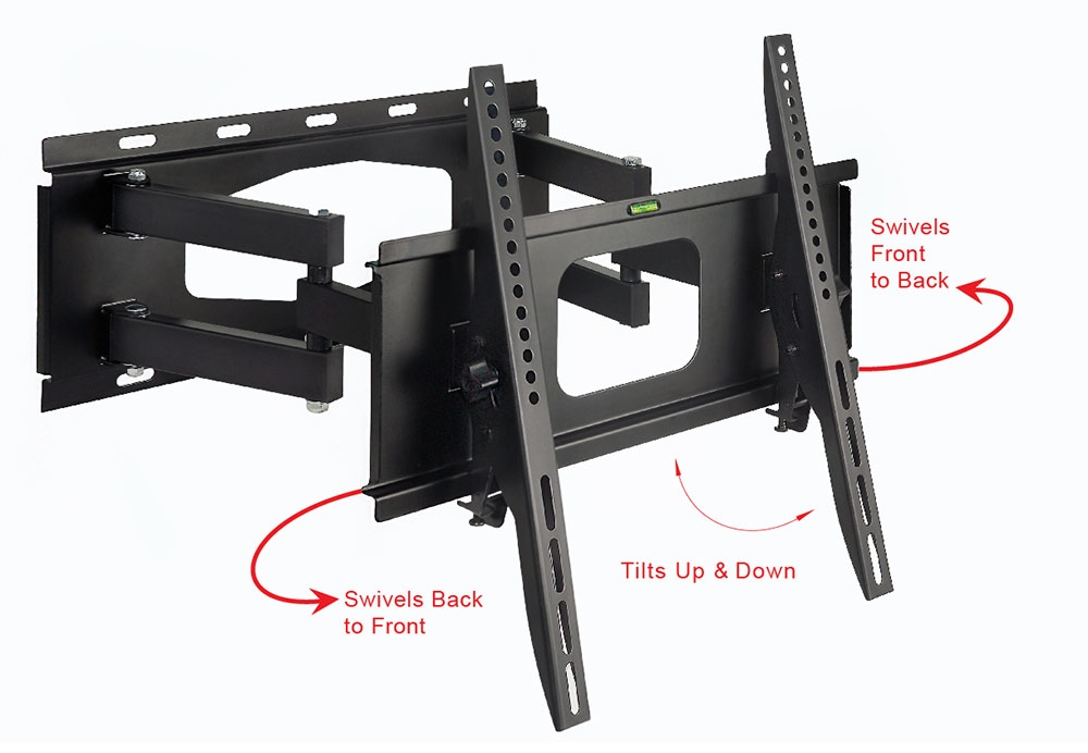 Wonderful Top Wall Mount Adjustable TV Stands Inside Articulating Full Motion Swivel Tv Wall Mount Vesa 600x400mm Max (Image 49 of 50)