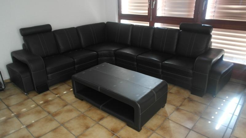 Wonderful Trendy Big Black Coffee Tables Within For Sale Outside Zrich 8966 Big Black Leather Design Sofa (Image 50 of 50)