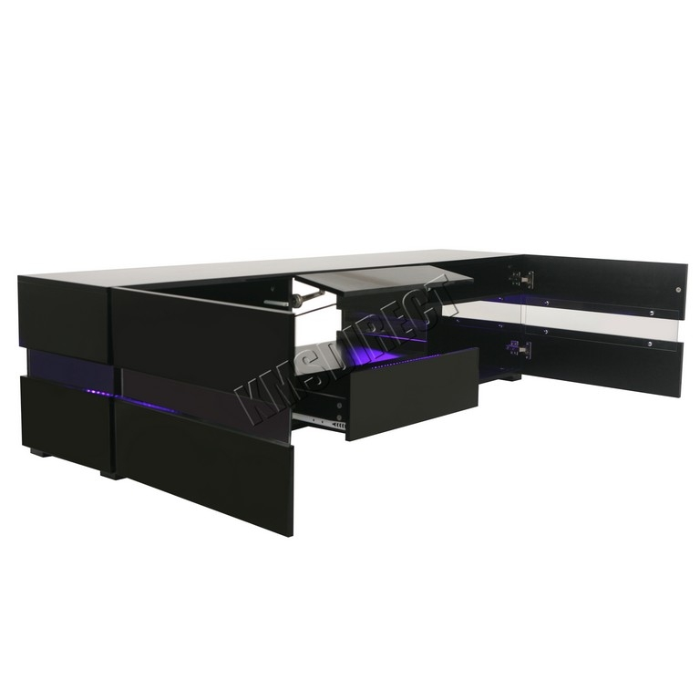Wonderful Trendy Black Oval TV Stands Pertaining To 60 Inch Tv Stands Black Furniture Of America Herman Industrial (Image 49 of 50)