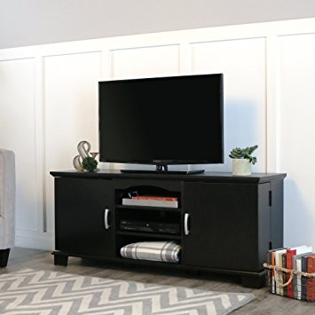 Wonderful Trendy Black TV Stands Pertaining To Amazon Walker Edison 60 Wood Storage Tv Stand Console Black (View 19 of 50)