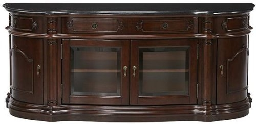 Wonderful Trendy Cherry Wood TV Cabinets Pertaining To Amazon Versailles Widescreen Tv Cabinet With Glass Doors (View 45 of 50)