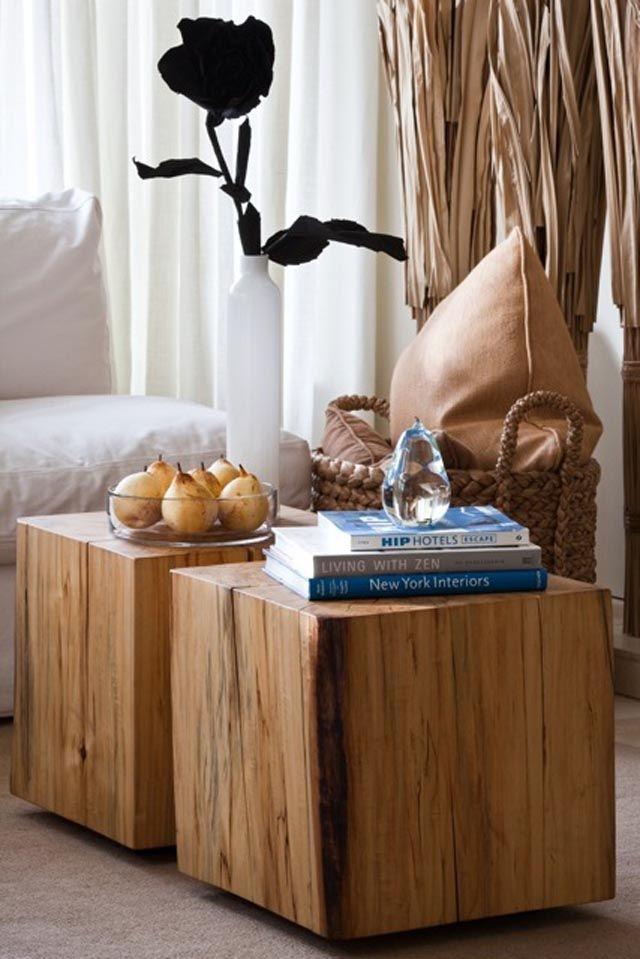 Wonderful Trendy Coffee Tables And Side Table Sets With 52 Best Salvaged And Reclaimed Solid Wood Cubes Images On (Image 50 of 50)