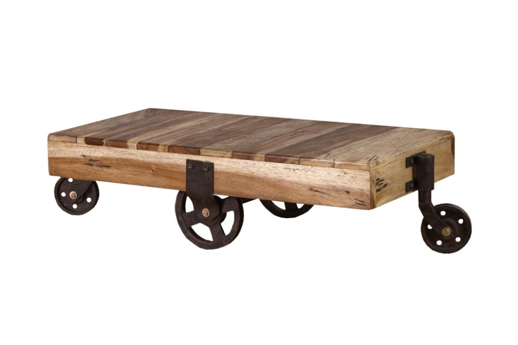 Wonderful Trendy Coffee Tables With Wheels Throughout Rustic Coffee Tables With Wheels Black Rustic Coffee Table With (View 24 of 40)