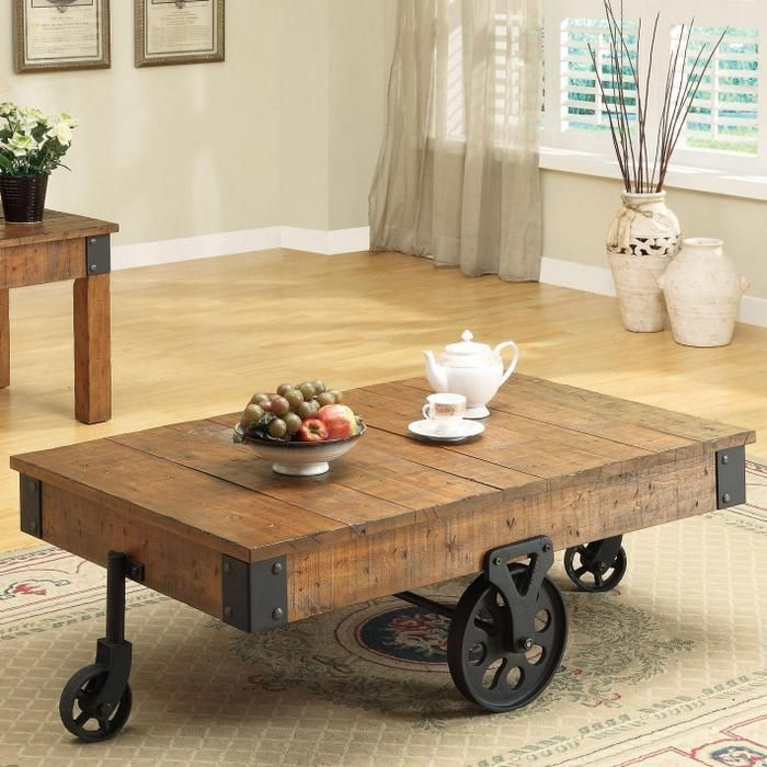 Wonderful Trendy Elegant Rustic Coffee Tables For Impressive Rustic Coffee Table On Wheels Best Ideas About Coffee (View 37 of 40)