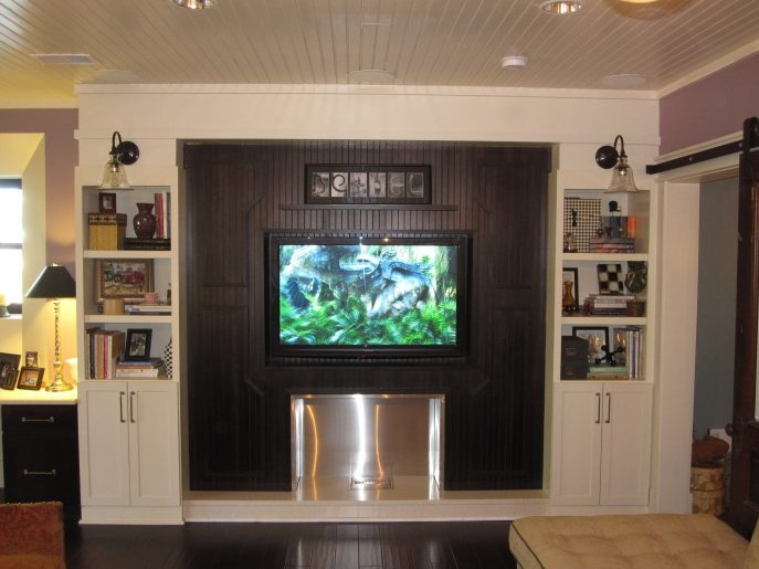 Wonderful Trendy Enclosed TV Cabinets For Flat Screens With Doors Pertaining To Living Room Furniture White Built In Enclosed Tv Cabinets Flat (Image 50 of 50)