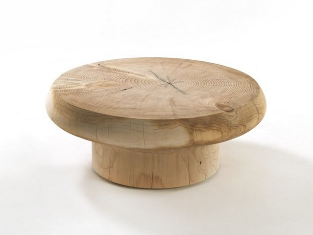 Wonderful Trendy Half Circle Coffee Tables Intended For Enchanting Solid Wood Round Coffee Table Teak Me Home Furniture (View 36 of 40)
