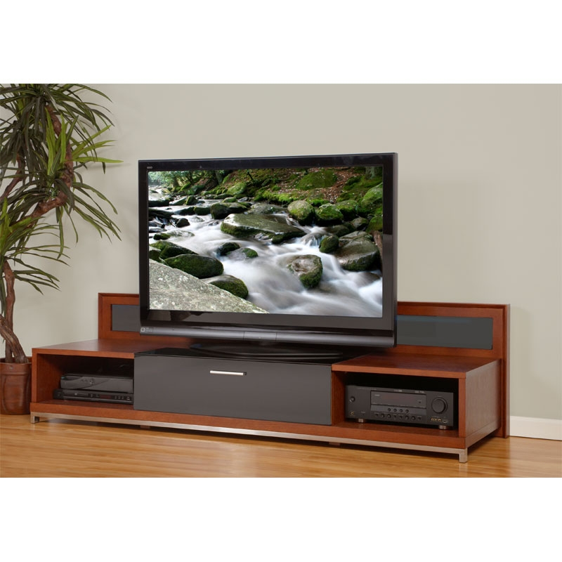 Wonderful Trendy Modern Wood TV Stands Inside Plateau Valencia Series Backlit Modern Wood Tv Stand For 51 (View 11 of 50)