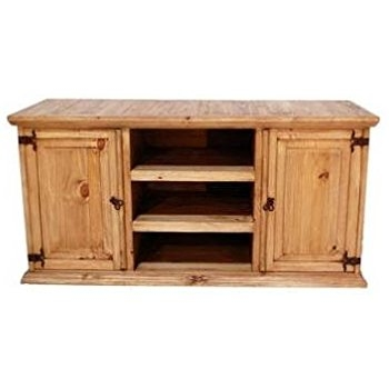 Wonderful Trendy Oak TV Stands For Flat Screen Pertaining To Amazon Rustic Tv Stand Real Wood Western 60 Flat Screen (View 48 of 50)
